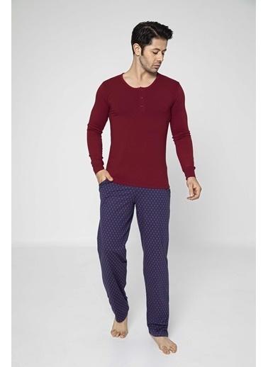 Aydoğan Erkek Modal Uzun Kollu Pijama Takımı Renkli